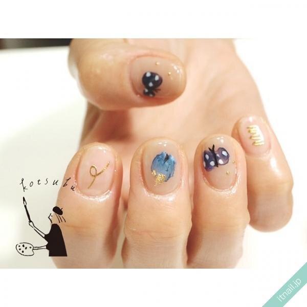 小粒nailが投稿したネイルデザイン [photoid:I0096342] via Itnail Design (645639)