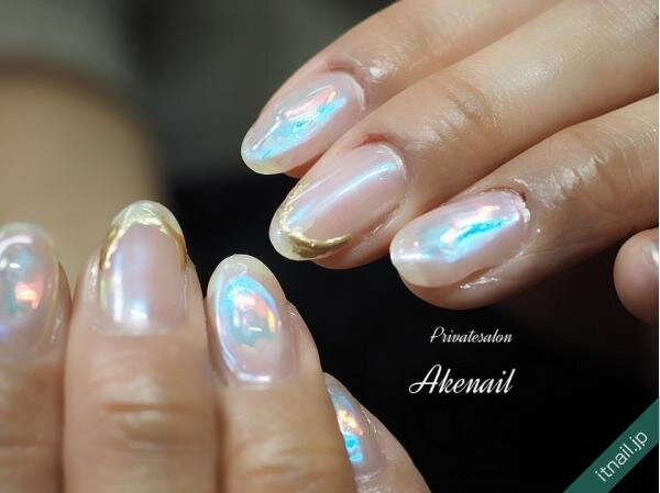Private salon Ake nailが投稿したネイルデザイン [photoid:I0095788] via Itnail Design (646219)