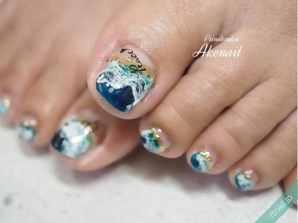Private salon Ake nailが投稿したネイルデザイン [photoid:I0086463] via Itnail Design (649041)