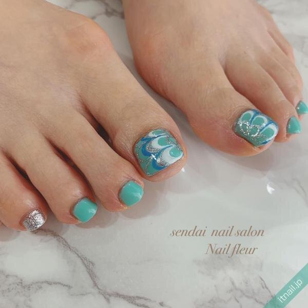 Nail fleurが投稿したネイルデザイン [photoid:I0085852] via Itnail Design (649056)