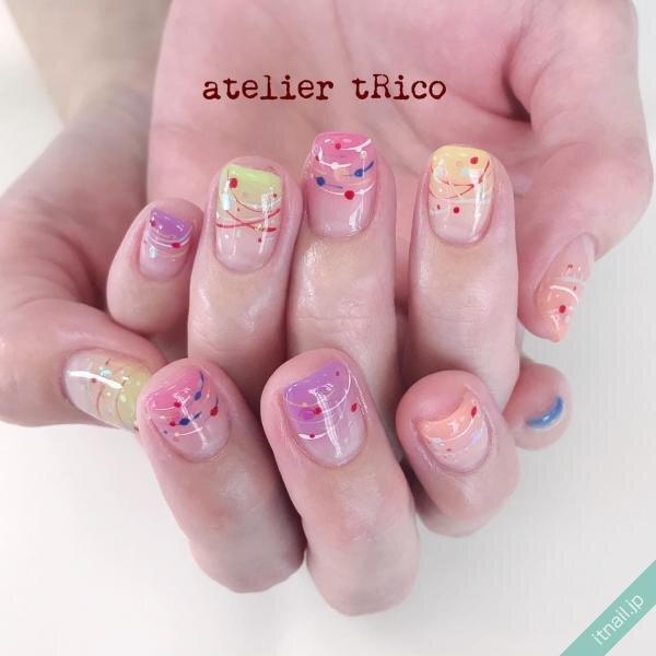 atelier tRicoが投稿したネイルデザイン [photoid:I0087416] via Itnail Design (649262)