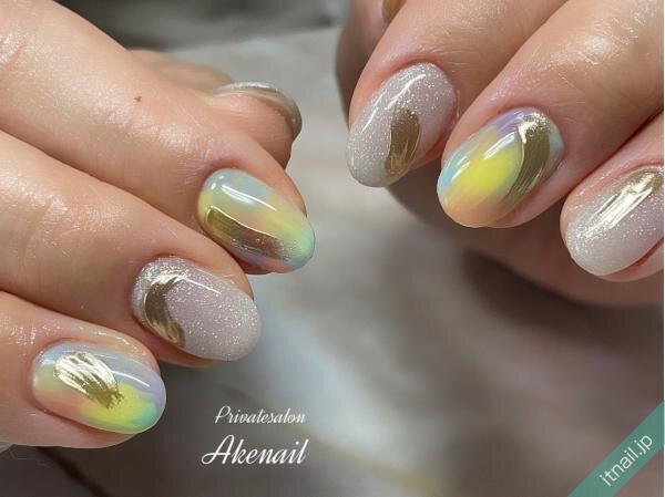 Private salon Ake nailが投稿したネイルデザイン [photoid:I0098965] via Itnail Design (649383)