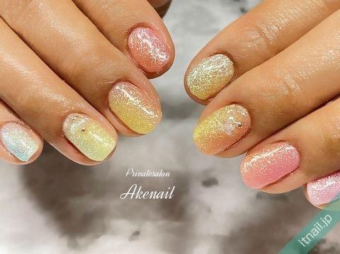 Private salon Ake nailが投稿したネイルデザイン [photoid:I0098963] via Itnail Design (649699)