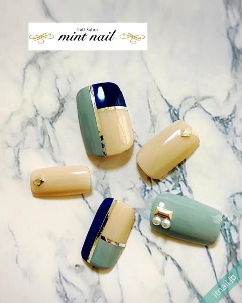 mint nailが投稿したネイルデザイン [photoid:I0097913] via Itnail Design (650121)
