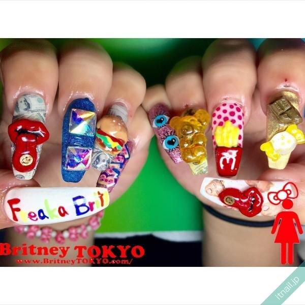 Britney TOKYOが投稿したネイルデザイン [photoid:I0044623] via Itnail Design (653419)