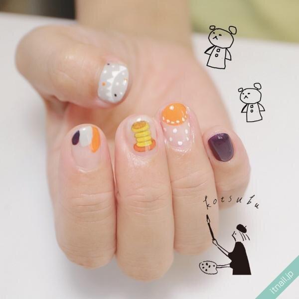 小粒nailが投稿したネイルデザイン [photoid:I0075454] via Itnail Design (655848)