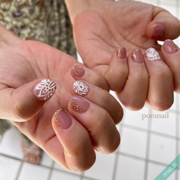pom nailが投稿したネイルデザイン [photoid:I0098778] via Itnail Design (656014)