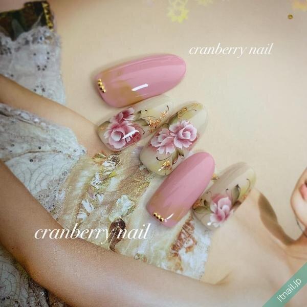 cranberry nailが投稿したネイルデザイン [photoid:I0068303] via Itnail Design (656295)