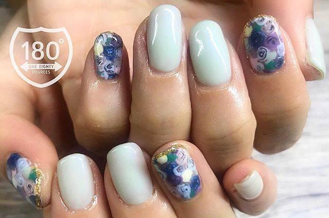 "180°degrees nail and eyelash on Instagram: ""🌹🌹🎤 . 安室ちゃん、引退しちゃいましたね😭! お客様からのオーダーネイル!安室ちゃんのアルバムをイメージしてアートしました✨ #安室ちゃん #安室ちゃん引退 . . . #180degrees #180degreesnaileye #nail #nails #nailart…"" (589835)"