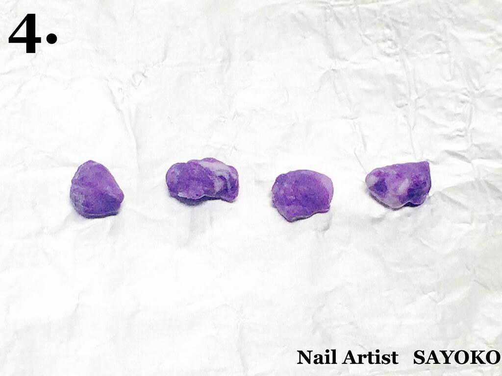 アクリル製天然石パーツの作り方4