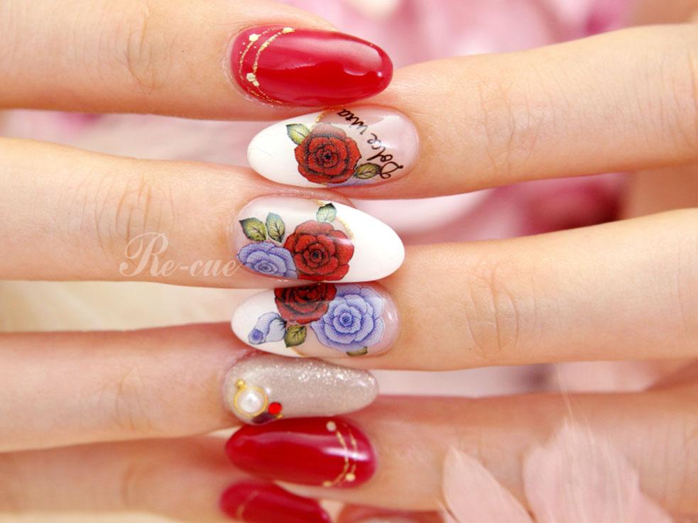 赤いバラの魅力。エアブラシを使ったバラモチーフの描き方